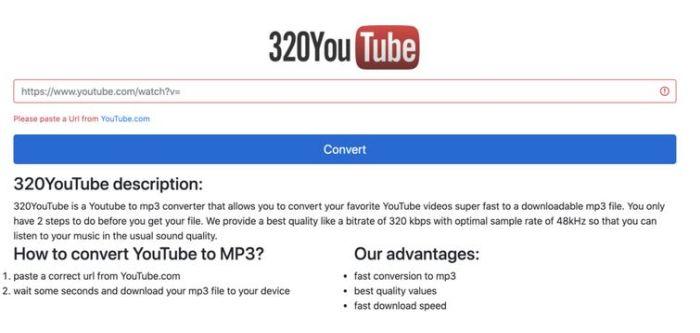 320 youtube